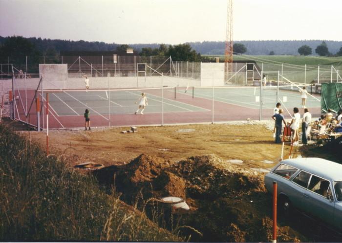 Bau Tennisanlage 10